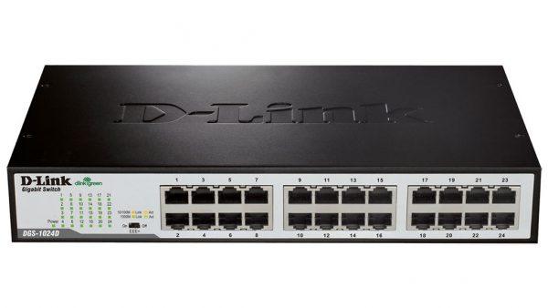 سوئیچ شبکه دی لینک ۲۴ پورت ۱۰/۱۰۰/۱۰۰ گیگابیت DGS-1024D
