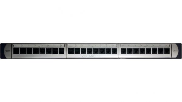 پچ پنل 24 پورت Cat6 UTP آنلودد اشنایدر اکتاسی اورجینال فلوک پاس